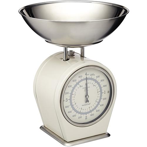 《KitchenCraft》復古料理秤(奶油黃4kg)