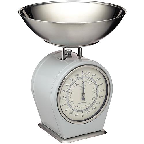 《KitchenCraft》復古料理秤(灰4kg)