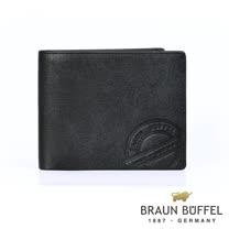 【BRAUN BUFFEL德國小金牛】瑞諾斯系列4卡零錢袋皮夾/ BF331-315-BK