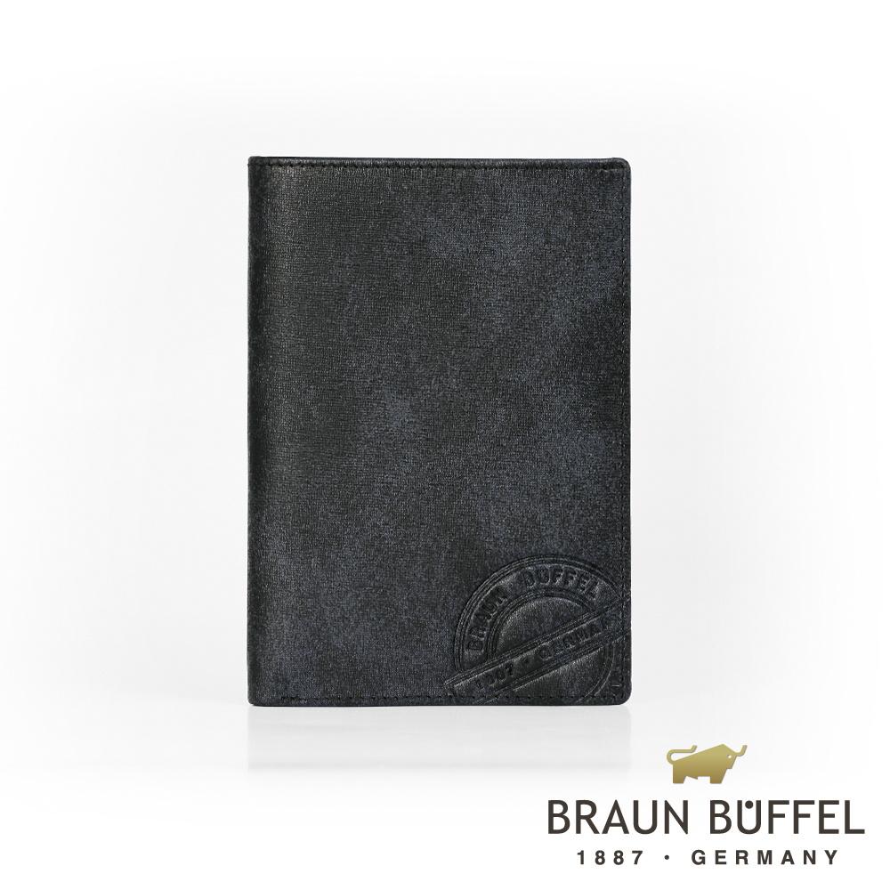 【BRAUN BUFFEL德國小金牛】瑞諾斯系列5卡護照夾/ BF331-500-BK