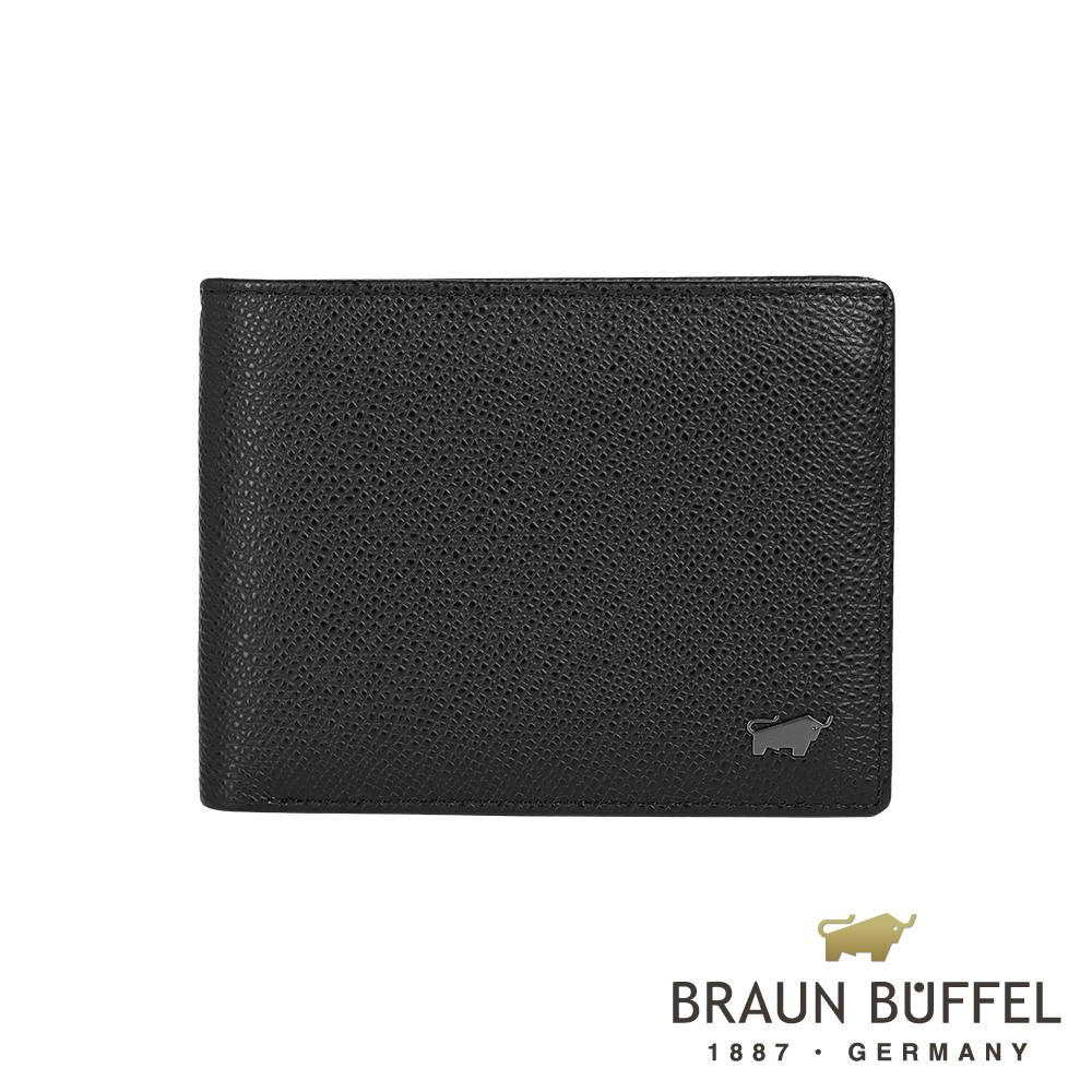 【BRAUN BUFFEL德國小金牛】莫里森系列8卡皮夾/ BF317-313-BK
