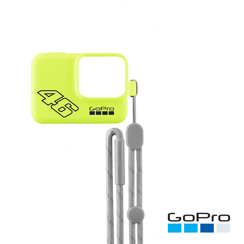 【GoPro】專用矽膠護套+繫繩 黃色ACSST-006(忠欣公司貨)