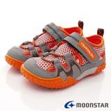 日本Carrot機能童鞋-兒茶素透氣機能款-KC19AB2橘-(15cm-21cm)