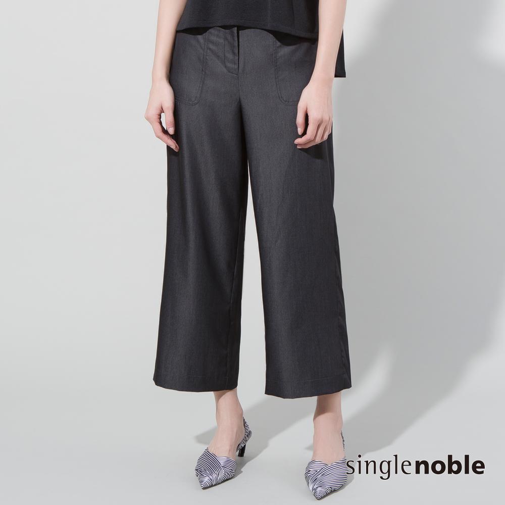 獨身貴族 率性新解壓縫口袋仿丹寧寬褲(2色)