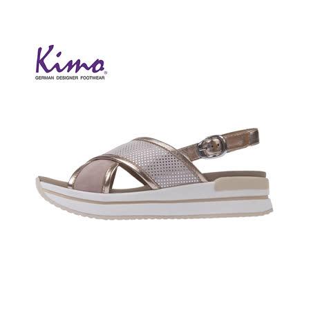 Kimo 德國品牌健康鞋 羊皮復古厚底涼鞋