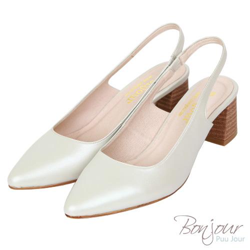 BONJOUR☆大容量6cm美型尖頭氣墊高跟鞋Pumps【ZB0346】銀白