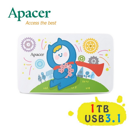 Apacer宇瞻 AC233 1TB『Ning's』聯名款行動硬碟-加送聯名原子筆(送完為止)