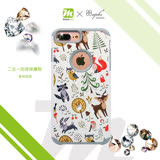 apbs x Mb 專屬款【 iPhone 6/7/8 】4.7吋 施華洛世奇 防摔 二合一 鑽殼 - 森林物語