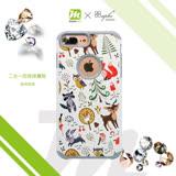 apbs x Mb 專屬款【 iPhone 6/7/8PLUS 】5.5吋 施華洛世奇 防摔 二合一 鑽殼 - 森林物語