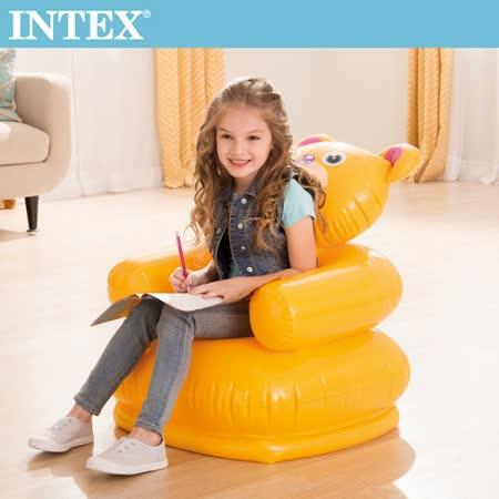 【INTEX】 可愛兒童充氣椅-小熊