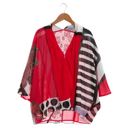 盈樺 時尚垂墜上衣-紅色