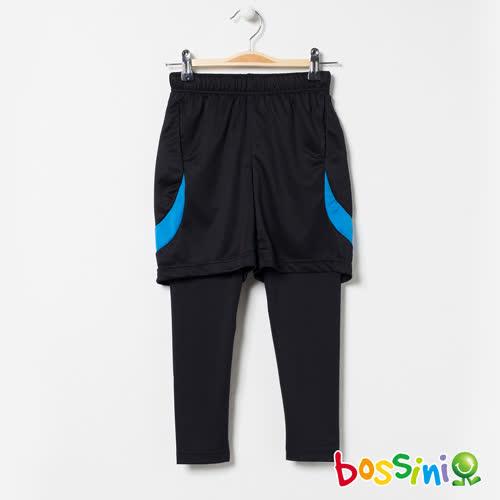 bossini男童-速乾針織短褲01黑