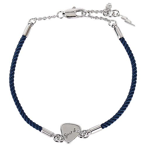 agnes b. -編織勾式手鍊(深藍/ 銀)