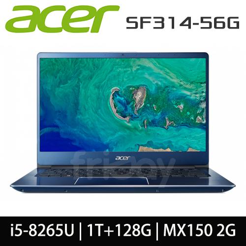 ACER 宏碁 SF314-56G-55DA i5-8265U/4GB/1T+128G/MX150 2G/14吋FHD