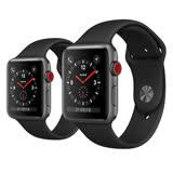 Apple Watch Series3 LTE 42mm (GPS+Cellular) 太空灰鋁金屬表殼搭配黑色運動型錶帶