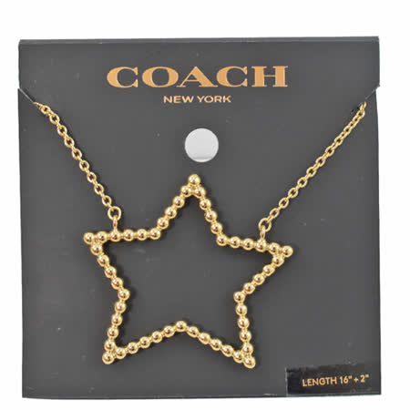 COACH  超大金珠星星造型項鍊