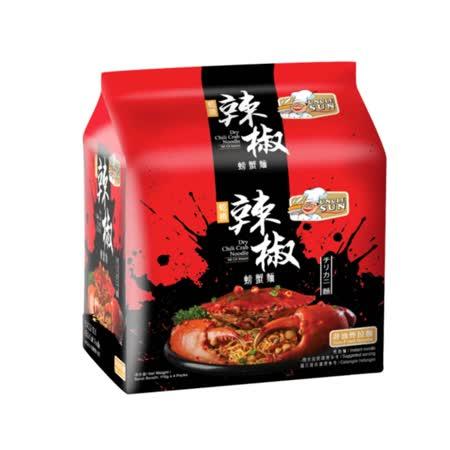 【太陽叔叔】螃蟹風味乾拌麵(雙麵體)辣椒110G*4入