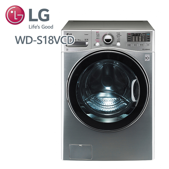 促銷★LG樂金 WiFi滾筒洗衣機(蒸洗脫烘) 典雅銀 / 18公斤 (WD-S18VCD) 含基本安裝+好禮大方送