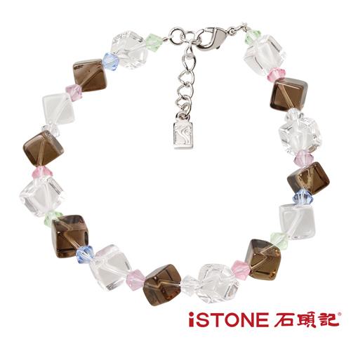 石頭記  水晶手鍊-夏日冰鑽-沉穩茶水晶