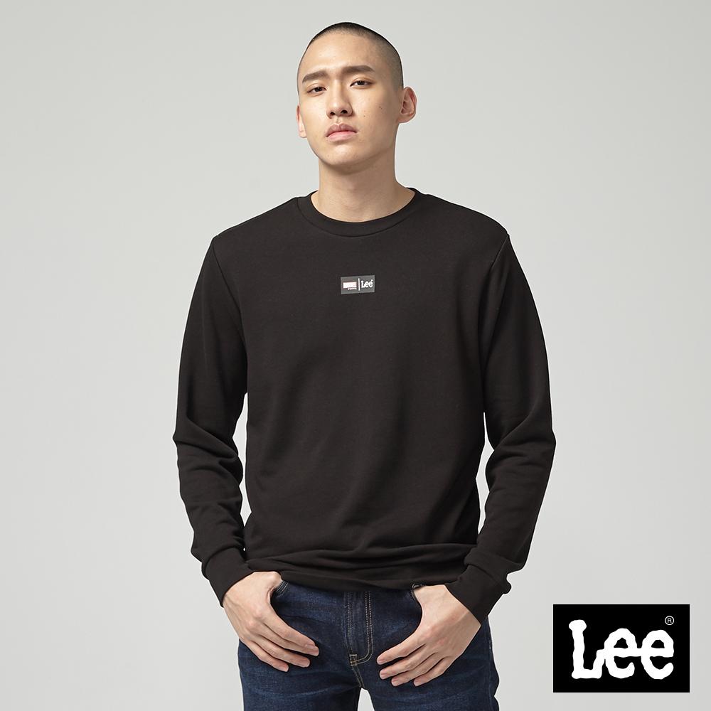 Lee Lee X Marvel聯名長袖圓領厚TEE/MV黑
