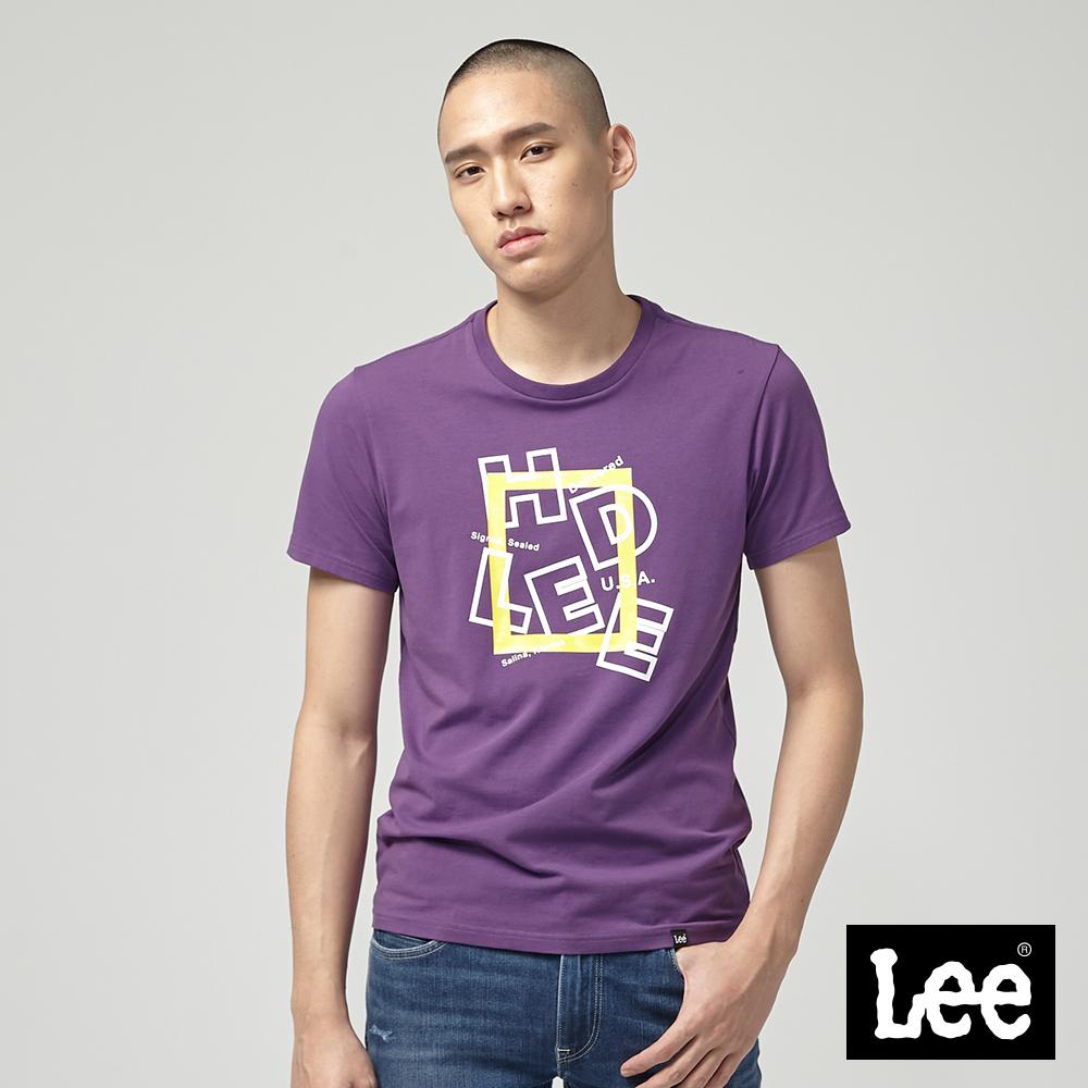 Lee HD LEE 黃框短袖圓領T恤/RG