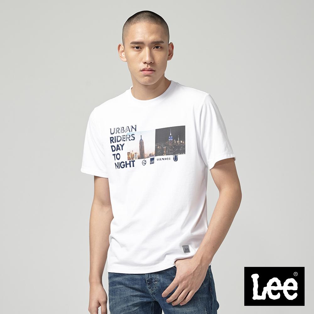 Lee Day to Night照片印刷短袖圓領TEE/UR-白