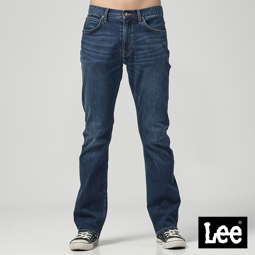 Lee 中腰舒適直筒牛仔褲/RG-中