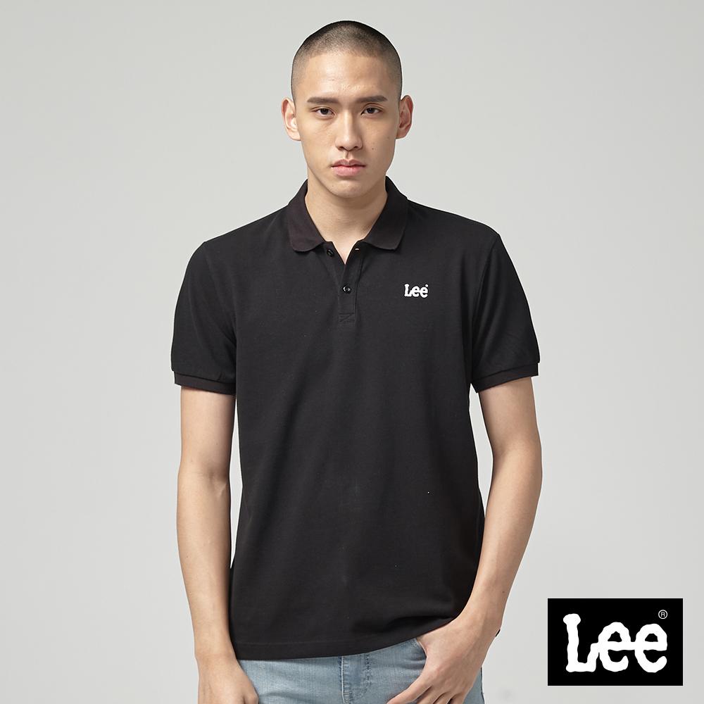 Lee 短袖小LOGOPOLO衫/RG-黑