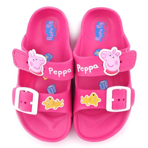 童鞋城堡-粉紅豬小妹 佩佩豬 中童 輕量戶外拖鞋PG0051-桃