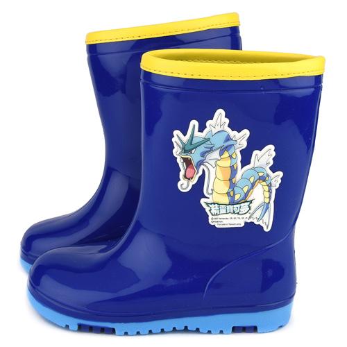 童鞋城堡-神奇寶貝(寶可夢) 中童 雙色大底雨鞋PA7331-藍