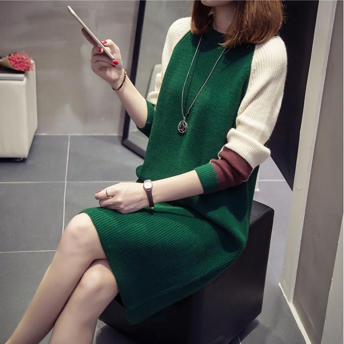 DRK0015 韓版雙色拼接甜心洋裝【CosmoPINK 粉紅教主】