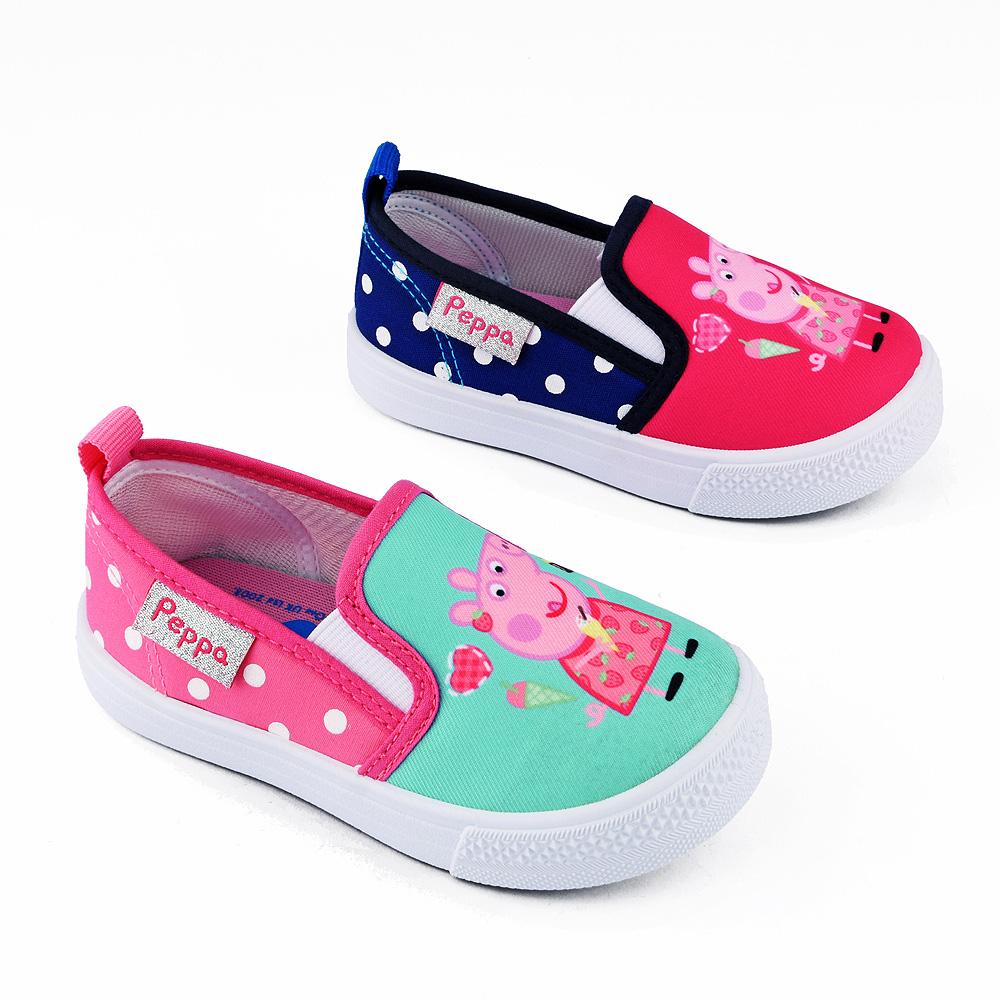 童鞋城堡-佩佩豬 中童 點點造型休閒室內鞋PG8509-桃