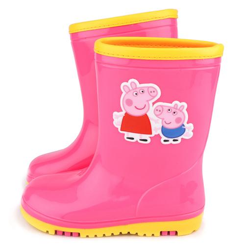 童鞋城堡-粉紅豬小妹 中童 雙色大底雨鞋PG8532-粉