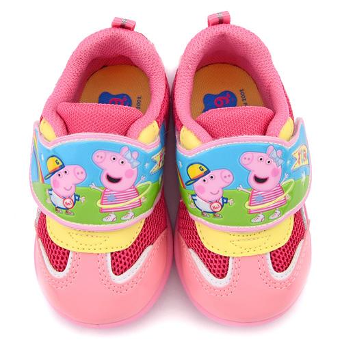 童鞋城堡-粉紅豬小妹 中童 佩佩喬治 透氣輕量運動鞋PG8560-粉