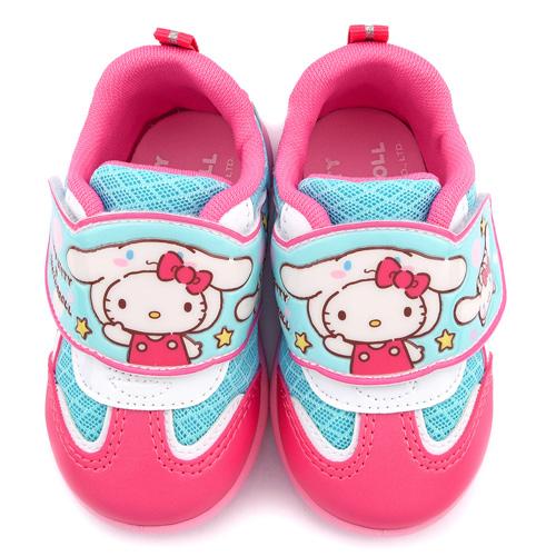 童鞋城堡-Kitty X 布丁狗聯名款 中童 透氣輕量運動鞋KT7194-桃