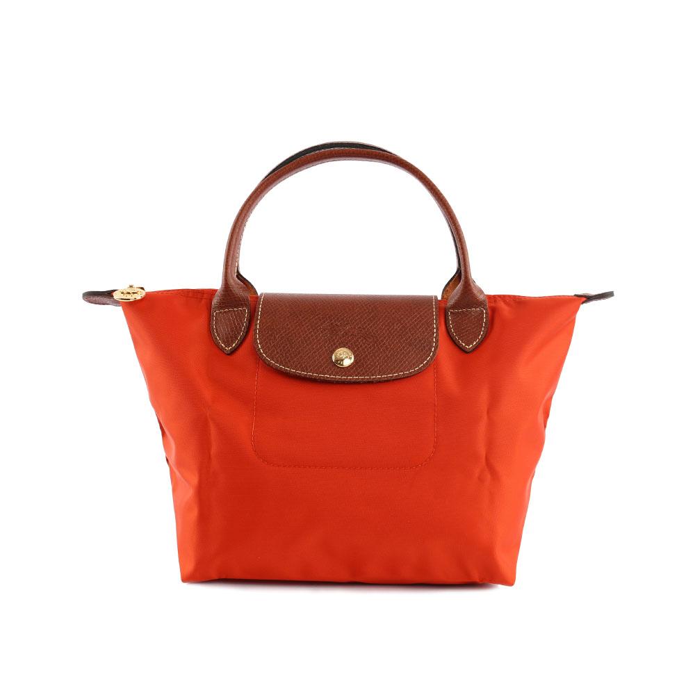 【LONGCHAMP】 S號短把LE PLIAGE摺疊水餃包(橙色) 1621089D93