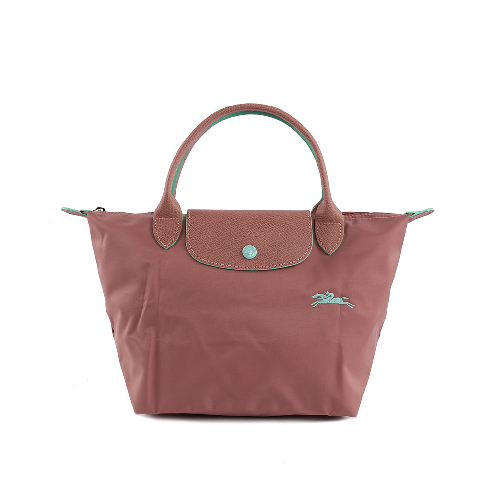 【LONGCHAMP】 S號短把LE PLIAGE CLUB摺疊水餃包(粉色) 1621619P13