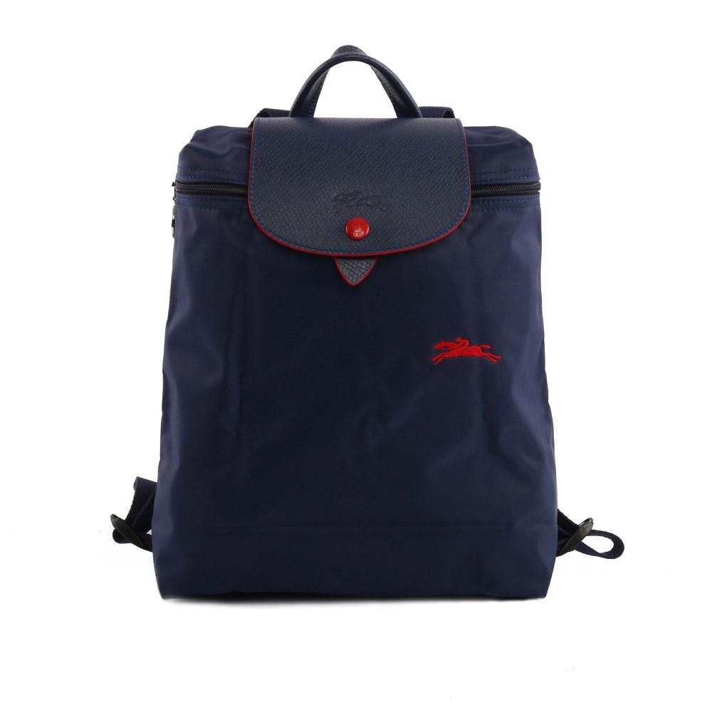 【LONGCHAMP】LE PLIAGE CLUB尼龍折疊後背包(海軍藍) 1699619556