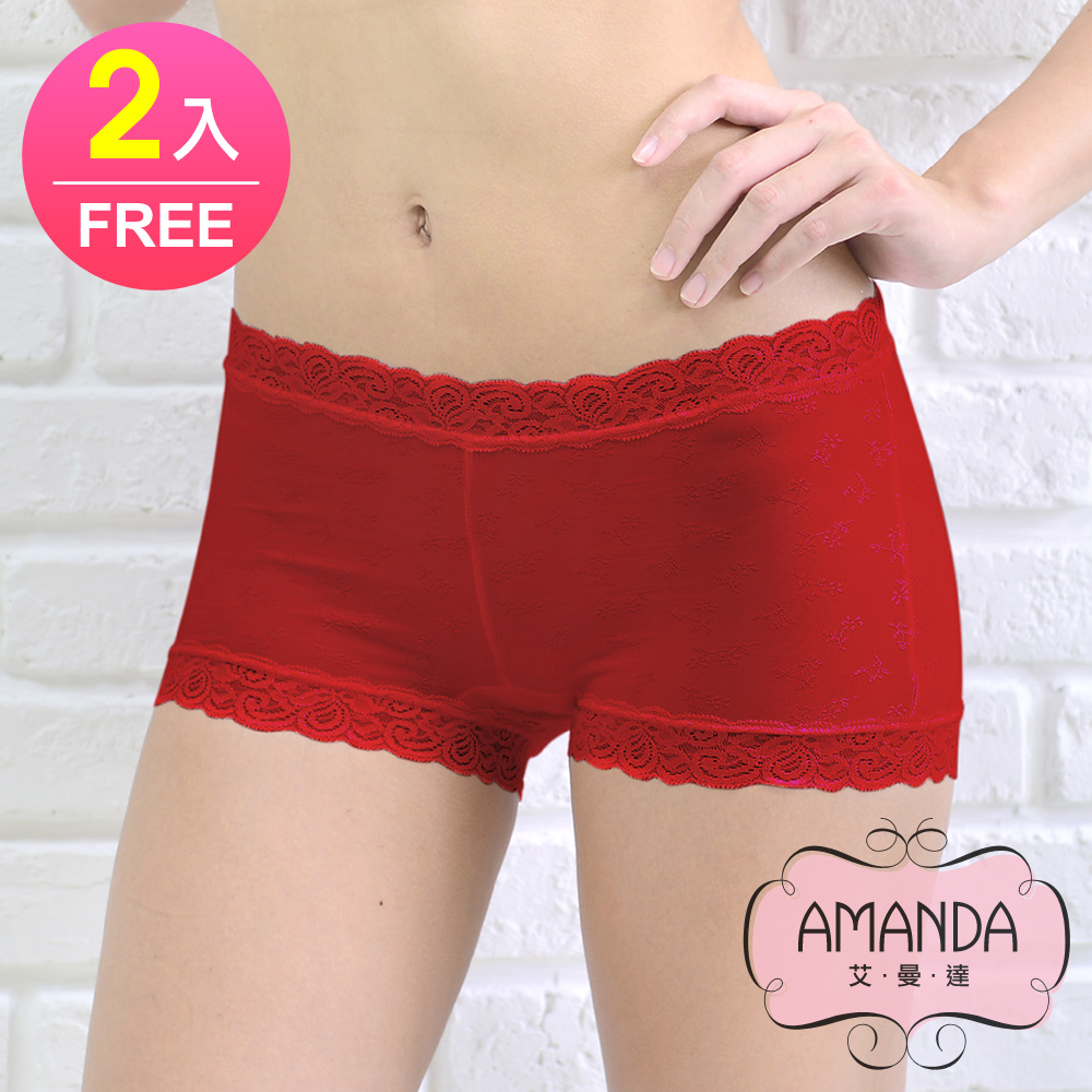 AMANDA艾曼達 萊卡內褲 果香芬芳竹炭褲底(FREE 2件)