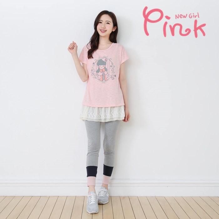 Pink*棉質百搭內搭褲 H2506AT