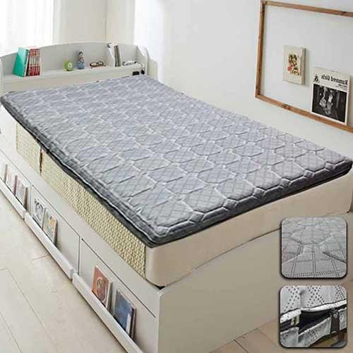 【KOTAS】  MIT-緹花 舖棉立體 記憶床墊 單人床墊 -灰色