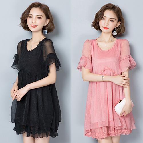 【韓國KW】(現貨) 時尚有型的韻味洋裝