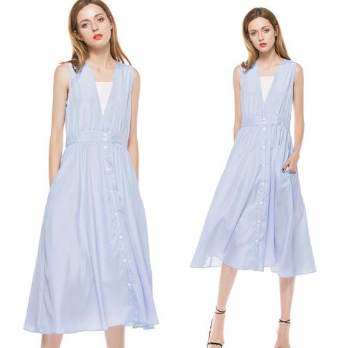 【歐風KEITH-WILL】(現貨) 甜味浪漫造型V領洋裝