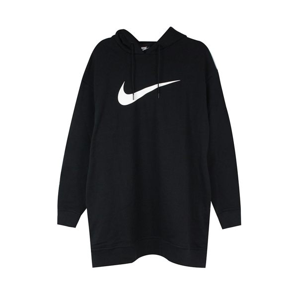 NIKE 女 AS W NSW SWSH HOODIE OS FT 連帽T(長)- AV8291010