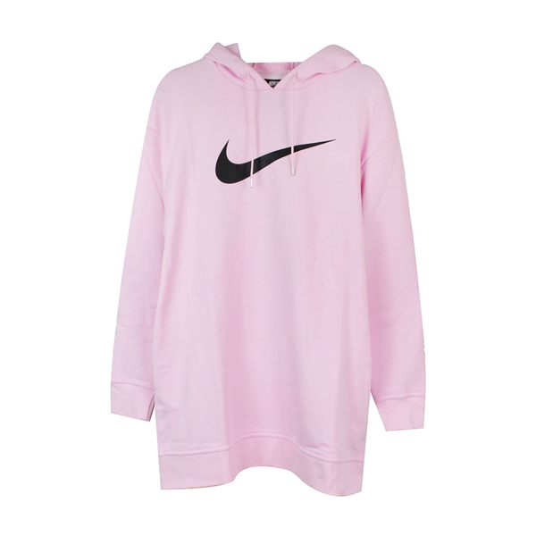 NIKE 女 AS W NSW SWSH HOODIE OS FT 連帽T(長)- AV8291663