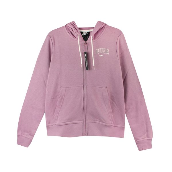 NIKE 女 AS W NSW HOODIE FZ VRSTY 棉質--運動外套(連帽)- AV8301515