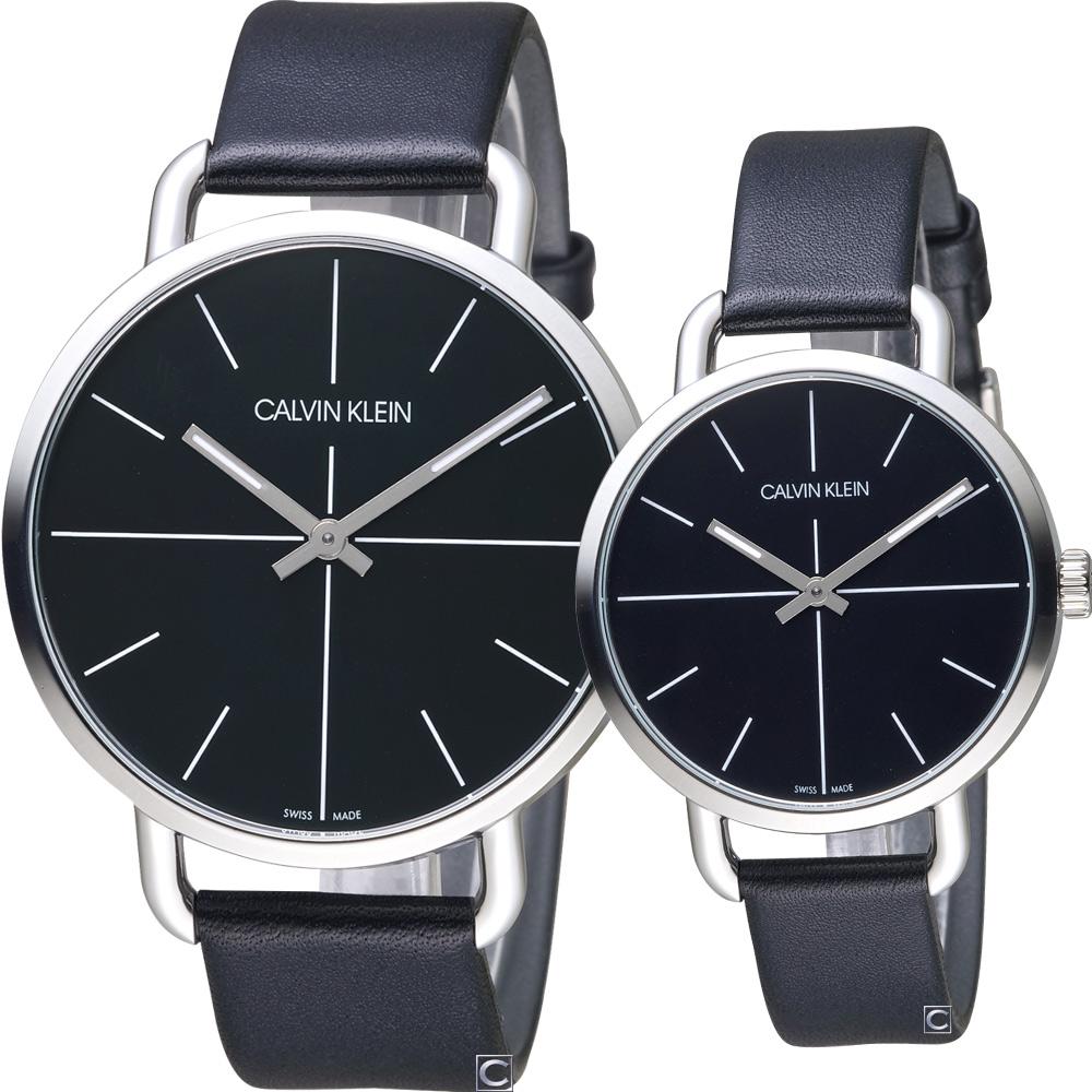 Calvin Klein even 超然時尚對錶(K7B211CZ+K7B231CZ)