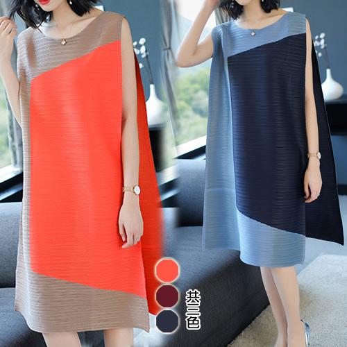 【韓國KW】(現貨) 不規則原創設計壓折洋裝