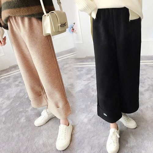 【韓國KW】(現貨) 韓新品街頭休閒毛呢寬褲