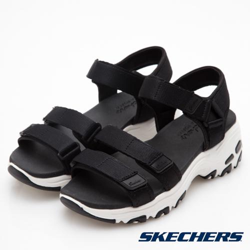 SKECHERS 女休閒 DLITES 涼鞋 - 31514BLK